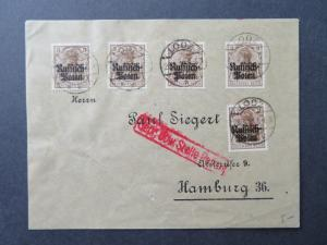 Poland 1918 Occupation Cover w/ 5 pf Issues - Z7776