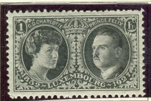 LUXEMBOURG; 1927 early Philatelic Expo issue fine Mint hinged 1Fr. value