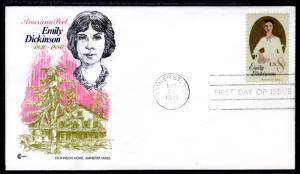 US 1436 Emily Dickinson Cover Craft U/A FDC