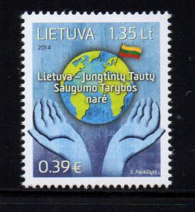 Lithuania Sc 1030 2014 Security Council stamp mint NH