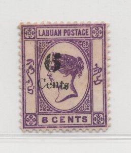 Malaya Labuan - 1891-92 - SG34g - 6c on 8c - no gum #690