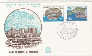Monaco 1978 Congress Center at Monte-Carlo Picture FDC Stamps Cover Ref 26458