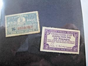 U.S. VIRGINIA STATE TAX STAMPS - LOT OF 2