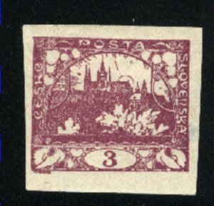 Czechoslovakia #1   Mint VF 1918-19 PD