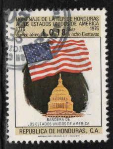 Honduras  Scott C607 Used airmail US Flag stamp