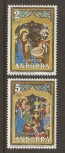 Spanish Andorra #77-8 Mint