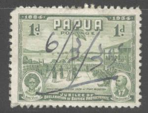 Papua Scott 110 Used manuscript date cancel on  1934 stamp