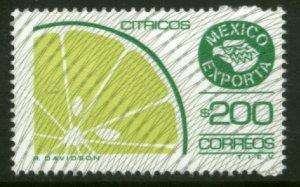 MEXICO Exporta 1135b $200P Citrus Fruit Fosfo Paper 7 MNH