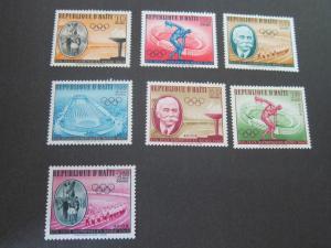 Haiti 1960 Sc 462-5,C163-5 set MNH
