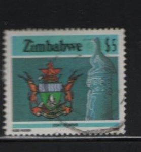 Zimbabwe 514 Used, 1982 National Coat of Arms