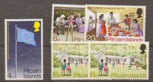 PITCAIRN ISLANDS SG120/3 1972 SOUTH PACIFIC COMMISSION MNH