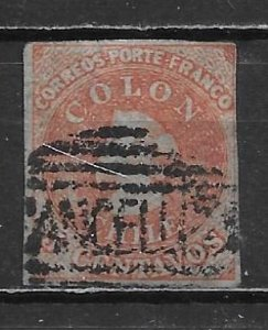 Chile 9 5c Columbus Used
