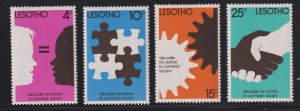 Lesotho 241-244 Action to Combat Racism Decade 1977