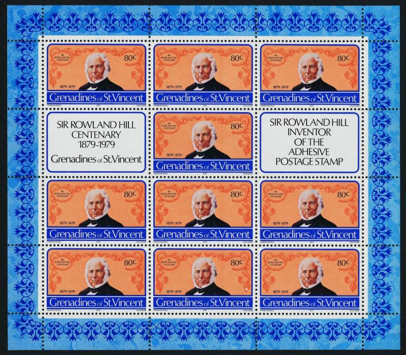 St Vincent Grenadines 173-5 Sheets MNH Stamp on Stamp, Rowland Hill