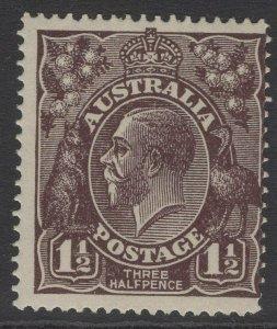 AUSTRALIA SG58 1918 1½d BLACK-BROWN MNH