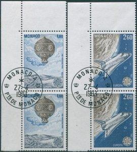 Monaco 1983 SG1613-1614 Europa pairs set FU