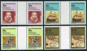 Cocos Isls 115-118 gutter,MNH. Capt William Keeling,Hector,Astrolabe,Map.1984.