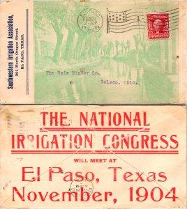 El Paso County El Paso Front and Back Advertisment ( Postal History ), 1904