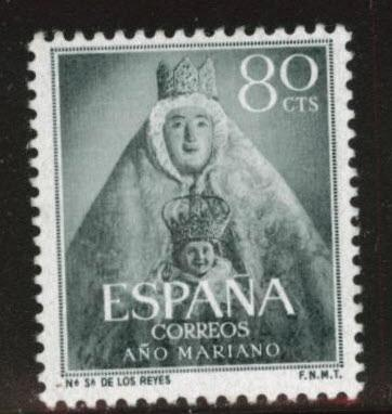 SPAIN Scott 810 MH* from 1954 Marian set