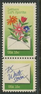 USA - Scott 1807-08 - Letter Writing Week -1980- MNH - 2 X 15c stamp