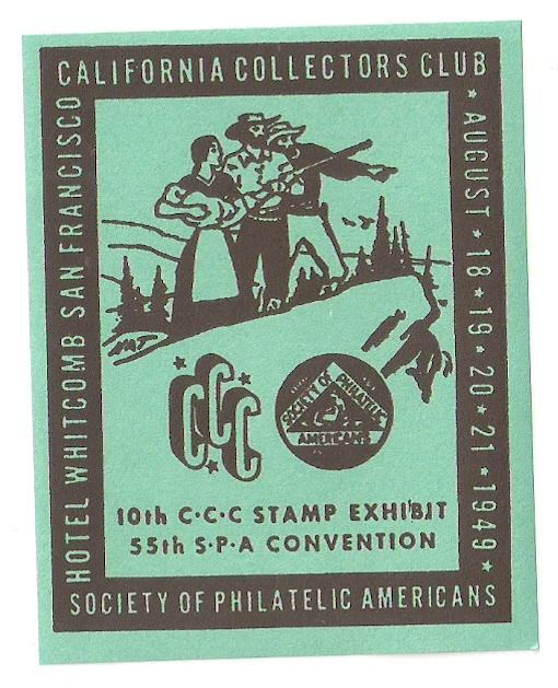 Wholesale 1949 SPA meeting label CA Collectors Club Mint x10