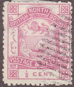 North Borneo 35 USED 1887 Coat of Arms