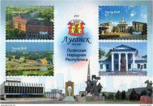 LUGANSK - 2015 - Lugansk, 220th Anniv - Imperf 4v Sheet - Mint Never Hinged
