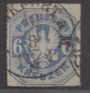 *German States Prussia SC# 26, Used, VF+, Rouletted 16, Embossed