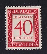 Netherlands New Guinea   #J5   MNH   1957  Postage due  40 c