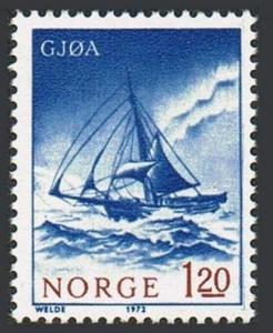 Norway 598,MNH.Michel 651. Polar Exploration Ships,1972.Gjoa.