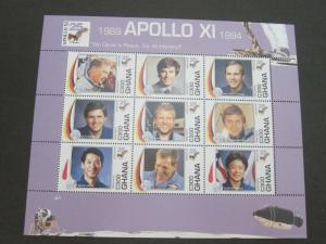 Ghana 1994 Sc 1701 Space set MNH