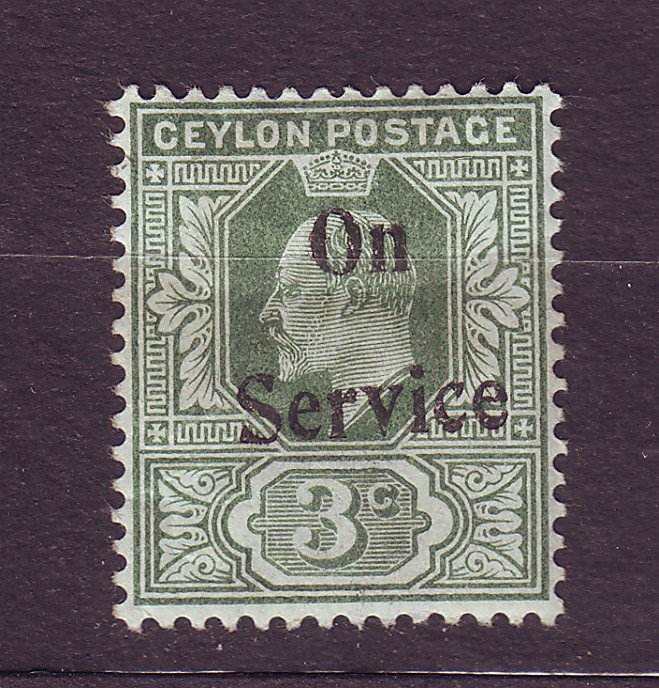 J23622 JLstamps 1903-4 ceylon mh #o30 ovpt see both scans