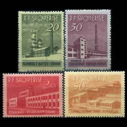 ALBANIA 1963 - Scott# 697-700 Industrial Set of 4 LH