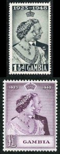 Gambia SG164/65 1948 Silver Wedding Set U/M