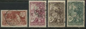 Guadaloupe 1935 Tercentenary values to 10 francs used