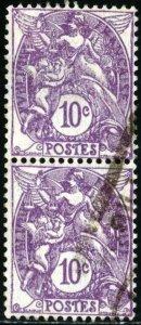 FRANCE #115 , USED PAIR - 1929 - FRAN138NS9