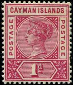 Cayman Islands SC# 2 SG# 2 Victoria 1d MH