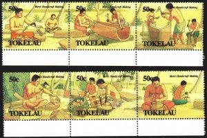 Tokelau. 1990. 177-82. Tokelau artisans. MNH.