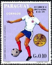 Olympic Soccer Champ., Great Britain 1900, Paraguay SC#1178