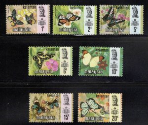 Malaysia Kelantan Scott 98-104 MH* Butterfly set