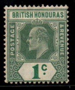British Honduras Sc 62 1904 1 c green Edward VII stamp mint