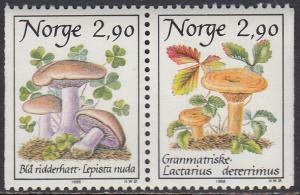 Norway 886-7 MNH - Mushrooms