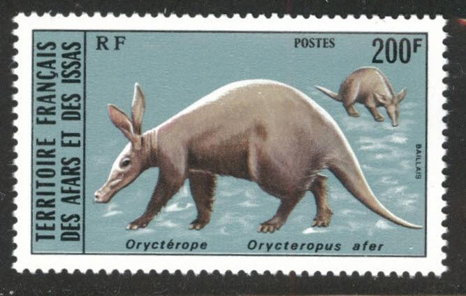 Afars and Issas Scott 407 MNH** 200fr Anteater stamp