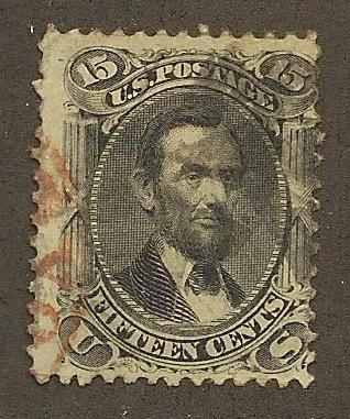 77 Used, 15c. Lincoln, scv: $170+50 Red Cancellation