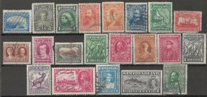 LLECTION LOT OF #1784 NEWFOUNDLAND 21 MH STAMPS 1897+ CV+$22