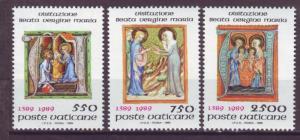 J15872 JLstamps 1989 vatican city set mnh #826-8 religion