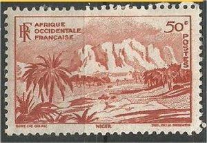 FRENCH WEST AFRICA, 1947 mint, 50c Bilma. Scott 39