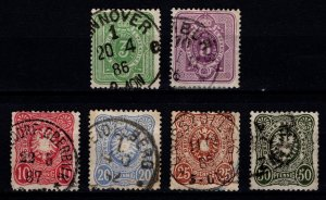 Germany 1880 Empire Definitives Pfennige without final 'E' Set [Used]