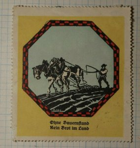 Farmimg Promotion For Food German Charity Seals Poster Stamp