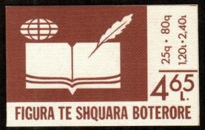 Albania Scott 2205a Mint NH booklet (Catalog Value $20.00)